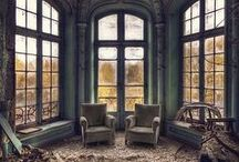 Beautiful abandoned houses and places