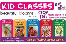 Workshops at Beautiful Blooms / We love to offer classes at Beautiful Blooms by Jen! These are classes we are currently offering or have offered in the past. We would be happy to host a workshop for your group of 8 or more. Please call 419-517-8821 for more info.