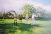 Analogue Wedding Photography / We are huge fans of film photography at weddings because it can bring a unique depth and feel to the day, kind of more real and authentic in a way. Shooting film means softer lines, richer colours, unpredictable vignetting, additional blur and pretty light leaks.  We shoot with polaroid Impossible Project film, Diana F+ cameras, 360 spinners and an old 80's Holga.