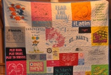 Terrific T-shirt Quilts / Ideas, tip, tutorials, patterns, etc. for making quilts with the bazillion tees I have saved up...mostly from the kids' lives so far... / by JulieCC