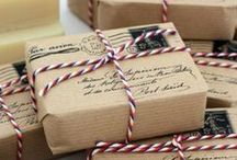 Brown paper packages tied up with strings / Wrapping ideas