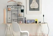 Workspace - Bureaux / beautiful workspaces at home. Home office / crafty room  Coups de coeur sur des espaces de travail, des bureaux où il fait bon travailler.