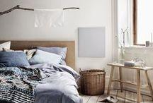 Bedroom / Beautiful bedroom for sweetest dreams. Scandinavian inspiration. Inspirations pour une chambre cocon, zen, détente…