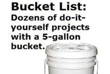 Uses for Jugs, Buckets, Drums and Pallets / What to do with the jugs, buckets and drums of all sizes after you use up the product you bought from GCE and Soap Warehouse, Pallets too for those that get truck loads. Helpful ways to recycle.