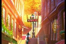 Illustration - Background / Des décors magnifiques, de dessins animés, bande dessinées, de film d'animation…