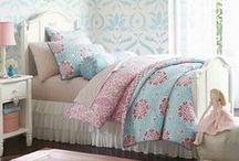 Dormitorio rojo turquesa / Red turquoise bedroom