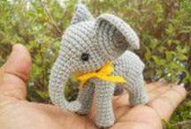 Amigurumi - elephants and giraffes