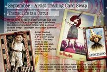Mischief Circus - Monthly Challenges / We host monthly challenges for ATCs, digital art and art journaling in the Mischief Circus forum.