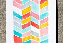 Watercoloring Book / Watercolor Inspiration + Color Palettes