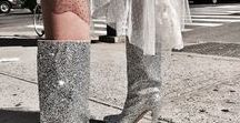 All That Glitters / Make like a human disco ball and sparkle and shine for the fall/winter season.