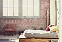 Bedroom / Beds, Headboards, Pillows and other stuff / by Liz