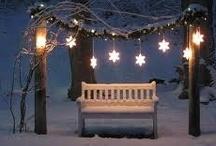 Winter / La neve, le candele, la magica atmosfera invernale.