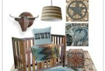 Southwest, Western and Cowboy Influence for Kids Rooms / Kids Room decor ideas, inspiration and mood boards