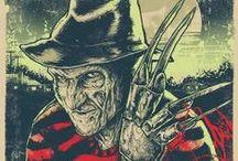 Horrror Films 60's -Now / Nightmare On Elm Street, Halloween, Friday the 13th, Howling, Childs Play, Hannibal, Hellraiser, Texas Chainsaw massacre films, Stephen King films,  Slasher films