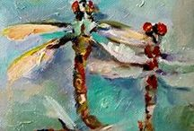 Dragonflies / Dragonfly Art, Paintings, Drawings, and Sculptures