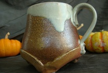 Mug Shots - Pottery / I love of good cup of strong black tea in the morning. Herbal tea at night and hey, a taste of hot chocolate at night. I need a bunch of mugs. Bottoms up to a hot tasty beverage! / by Clay Shaper Gallery