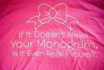 monogramed junkie / by Cj Beard