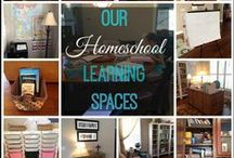 Learning Room Inspiration / Inspiration and ideas for making homeschooling spaces beautiful and as well as functional.  Lots of organizing ideas for taming the clutter! DIY home decor to make homeschooling functional in our homes. Homeschooling in small spaces, homeschooling in separate rooms, homeschooling in the kitchen, it's all here in one spot! Education in the heart of the home.