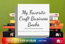 Craft Books and Magazines Worth Reading / I read A LOT! Here are my favorite craft books and magazines about selling crafts, social media marketing, handmade product packaging, DIY product photography, painting techniques, and jewelry making.