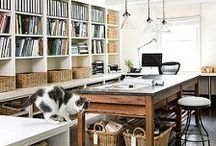 Craft Room Ideas / Beautiful craft room ideas! All kinds of inspiration to help you dream and design your ideal creative work space. DIY storage and organization ideas, lovely small space craft rooms, and spectacular dream studios.