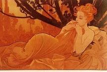 Alphonse Mucha / The Famous Art Nouveau Movement Artist  / by Lizzi Doss