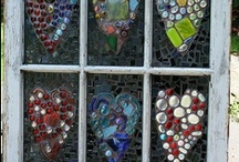 Vintage Window Ideas / Vintage window ideas. Plenty of DIY craft projects to use the old windows in my basement. Need a vintage window for a project? Ask a friend who lives in a century home - there's a good chance they have a few in their basement! :)