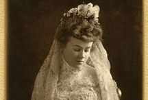 Edwardian Brides / Beautiful Brides from the Edwardian Era, 1900 - 1918, England, France, and the US. Research for the Edwardian Brides Series.