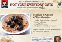 Oats Unleashed / Quaker has joined forces with Sam Stephens, chef and owner of OatMeals Cafe in NYC, to bring unexpected oat ideas to you. We will be pinning some of her favorite recipes, as well as some brand new ones.