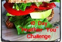 10 Day Challenge Tips / Healthy meal ideas and exercise ideas for doing a 10 Day Shakeology Challenge
