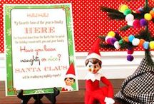 Elf On The Shelf / Great ideas for setting up your Elf On The Shelf each night in December.