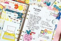 Planner Love / Ideas for using and prettying up a planner! Fun ways to use a paper planner to stay more organized. Especially for busy moms!