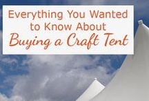 Craft Tent Guide / Need some help choosing the right craft tent for your craft shows? This board has everything I know about buying a portable canopy for your display booth.   You'll find reviews of popular products like the Caravan Canopy, Quik Shade, and EZ Up Tent, ideas for buying or making weights, and a printable check list to help you compare 10 x 10 canopies. Take the confusion out of researching display tents for your art show booth with these articles and ideas.