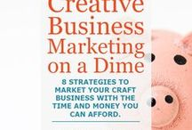 Craft Business Marketing / Craft business marketing ideas! Oodles of articles teach you creative business marketing strategies to sell more handmade treasures.