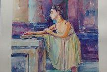 Meu Portfolio / Meus trabalhos de desenho, pintura (óleo, aquarela)