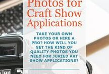 Craft Shows / Tons of tips for selling at craft shows. How to find the best craft fairs in your area, get accepted into good juried art shows, and create a fantastic display booth. Checklists to keep you organized, and ideas to improve your product photography for show applications.