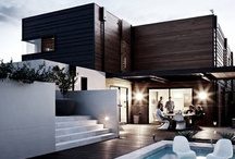 Dreaming big: town / Fab and glamorous homes and outdoor spaces, modern and traditional, minimalist, clean lines, white, town houses, terraced, row houses