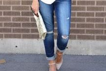 Boyfriend jeans / Fabulous ways to wear boyfriend jeans with personal stylist Caitlin from Chasing Cait