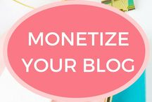 Monetize Your Blog / How to monetize your blog including paid blogging jobs, affiliate marketing and ads. Tips and tricks for blog monetization.