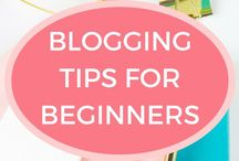 Blogging Tips for Beginners / Blogging tips for beginners. How beginner bloggers can grow blog traffic, get sponsored posts and make money blogging.