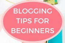 Blogging Tips for Beginners / Blogging tips for beginners. How beginner bloggers can grow blog traffic, get sponsored posts and make money blogging.