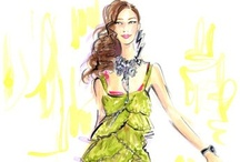 Jennifer Lilya * Fashion Illustrating Genius / by Rachael Collins