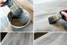 Wood paint - withewash - aging - stain / All about wood paint technques