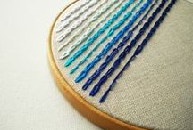 Embroidery - needlework - cross stitch / by Ariane at Spilled Milk Cakery