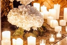 Romantic Candlelight / Wedding candle lighting and outdoor wedding lighting inspiration. Candle lighting ideas for your wedding ceremony and wedding reception.