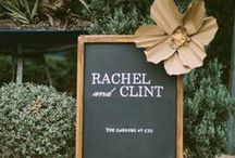 Chalkboard Signage / Clever and creative chalkboard wedding menus, signs, and other ideas.