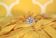 Engagement Rings / Diamond engagement ring ideas. Creative ways to show off your wedding sparkle!