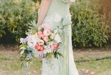 Minty Fresh Inspiration / Mint green dresses and wedding decor ideas. How we love this light green shade!