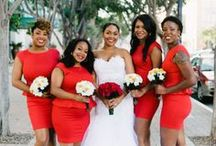 Romantic Red / Red wedding ideas. A collection of red dresses, red rose bouquets and accents, and red wedding decor ideas for the classic romantic in all of us.