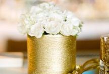 Gilded in Gold / Gold wedding inspiration. Discover the best gold wedding decor ideas, from gold wedding cakes and favors to glittery gold dresses and wedding signs.