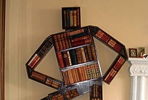 """Curious Bookshelves / As Lemony Snicket once said, """"A good library will never be too neat, or too dusty, because somebody will always be in it, taking books off the shelves."""" Well, we can certainly be creative when it comes to taking those books off the shelves."""
